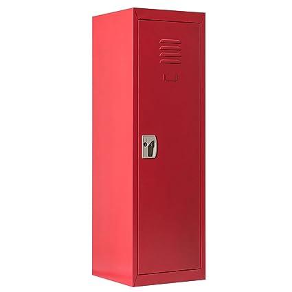 Costzon 48u0026quot; Kids Storage Locker, Single Tier Metal Locker, Lock And  Key Safe