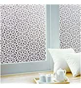 Privacy Window-Film Non Adhesive Glass Window-Sticker Paper Static Cling Decorative Snowflake Pat...