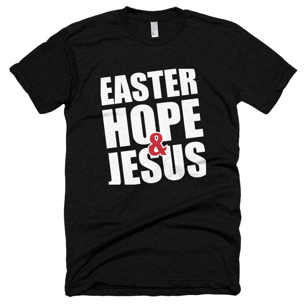 Mcken Easter Hope and Jesus American Apparel Poly-Cotton Short Sleeve Crew Neck for Men