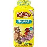 L'IL CRITTERS 丽贵 Omega 3 小熊糖 (220粒)(美国进口) (跨境自营,包邮包税)