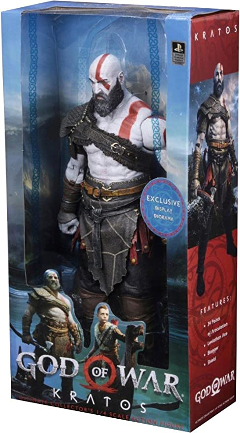 Neca God Of War 2018 1 4 Scale Action Figure Kratos Figures Amazon Canada