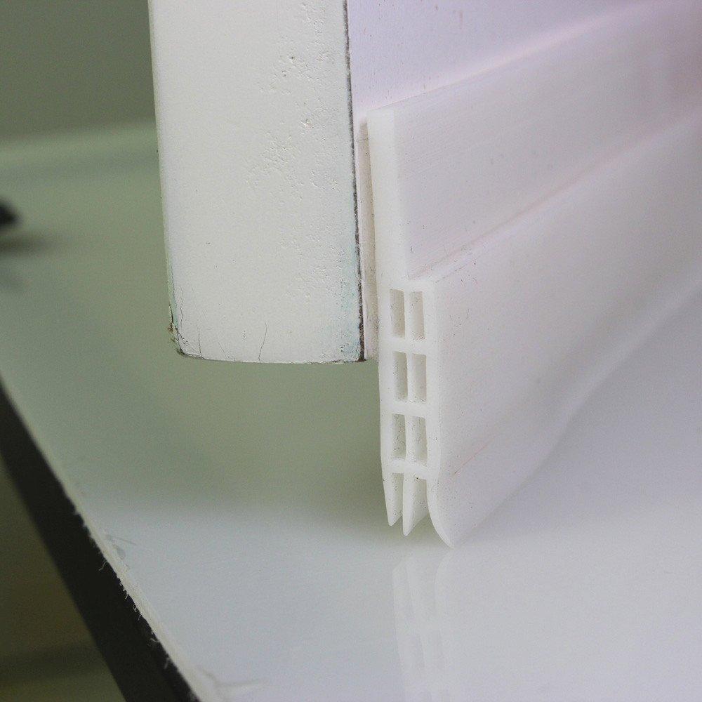 Door Draft Stopper,Sandistore High Performance Silicone Under Door Sweep Adhesive 3M Strip | Draft Blocker for Under Door Seal Gap Interior & Exterior Doors Weather Stripping Soundproof (White)