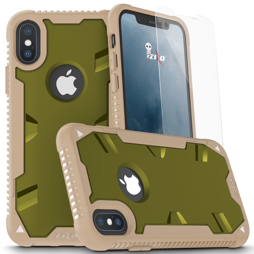 new arrival 86920 b6082 Details about iPhone-X Zizo-PROTON-Case-Military-Grade-Glass-Screen iPhone