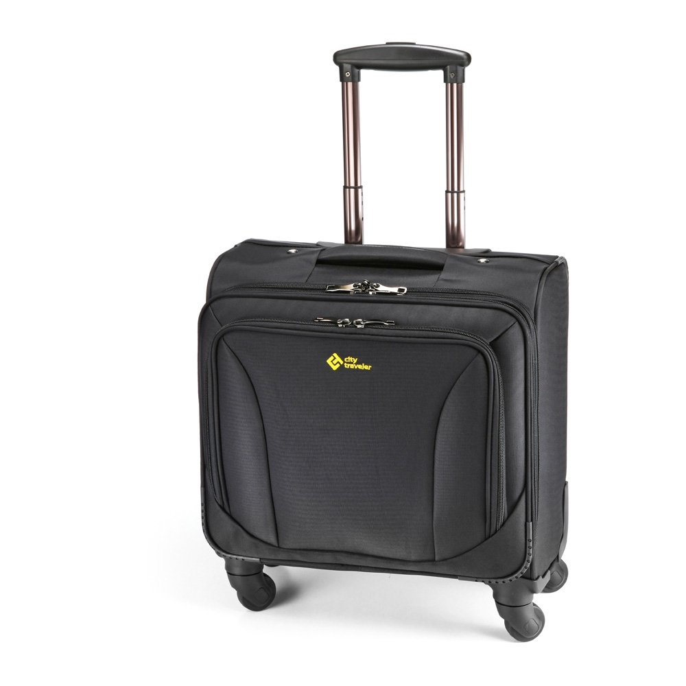 City Traveler Durable Nylon Business Suitcase - Carry On with Spinner Wheels (Notebook Briefcase)