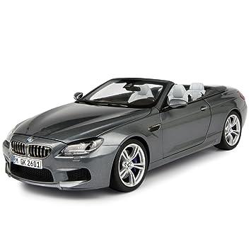 Paragon 97062 BMW M6 F12M Convertible Space Grey 1 18 Diecast Car Model