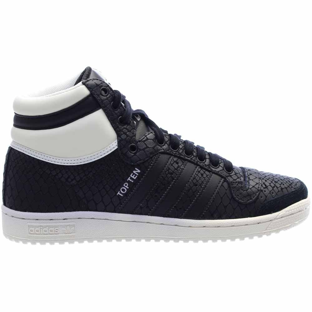 adidas Women's Top Ten Hi Black/White S75135 (Size: 8) by adidas (Image #2)