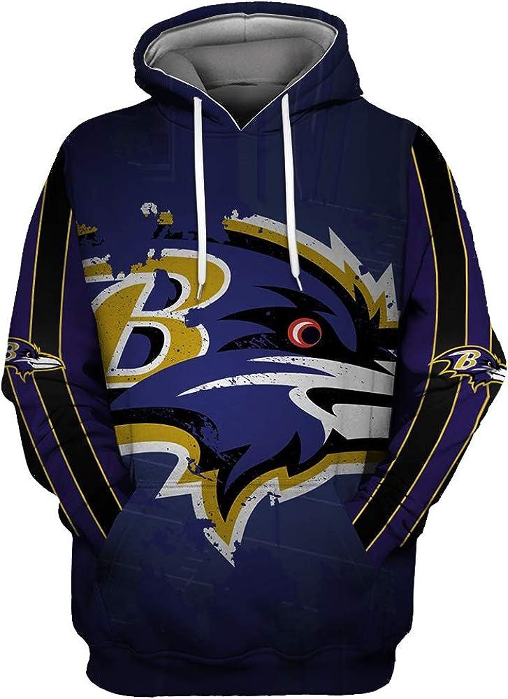 ZXTXGG Baltimore Ravens - Sudadera con Capucha para Hombre, diseño de Uniforme de fútbol: Amazon.es: Ropa y accesorios