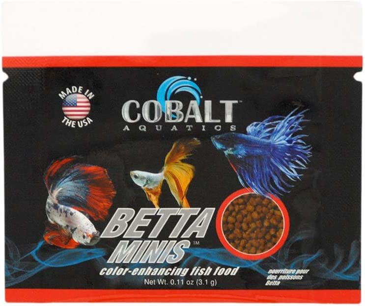 Cobalt Aquatics Betta Minis Color Enhancing Fish Food - .11Oz/96 Count