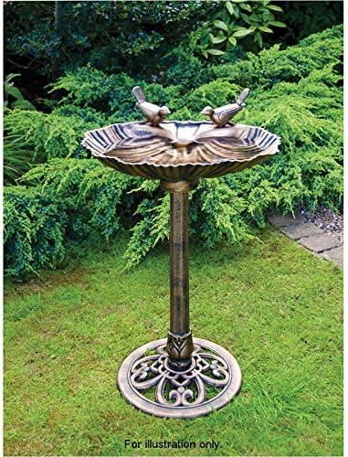 Bebedero para pájaros efecto bronce para jardín. Pieza central para jardín, resistente a las condiciones meteorológicas: Amazon.es: Jardín