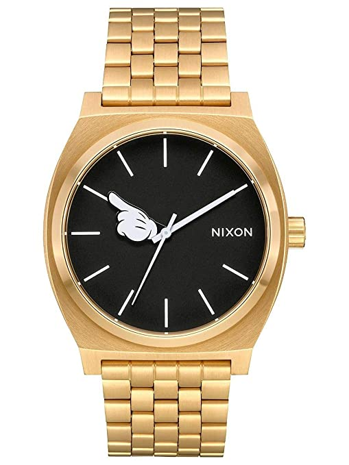 Amazon.com: Nixon Mens Time Teller Disney Collection Gold/Black/Mickey Hand One Size: Watches
