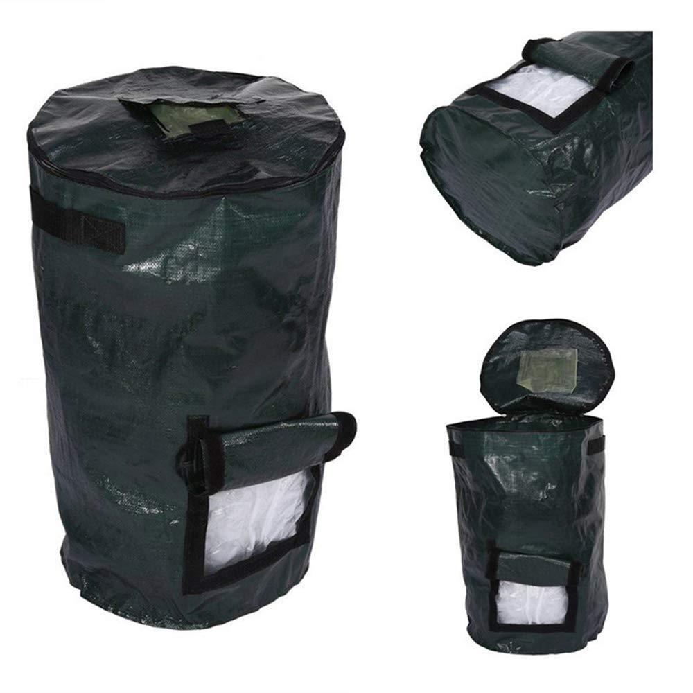 Bolsa de compost de jard/ín,reciclaje org/ánico de residuos de almacenamiento de hojarasca de bolsa de compost de fermento