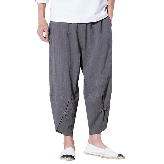 Pluderhose Homme Large Confortable Unisex Pantalon Sarouel Fashion  Décontracté Couleur Unie Fille Vêtements Taille Élastique Pantalon db611197f1a5