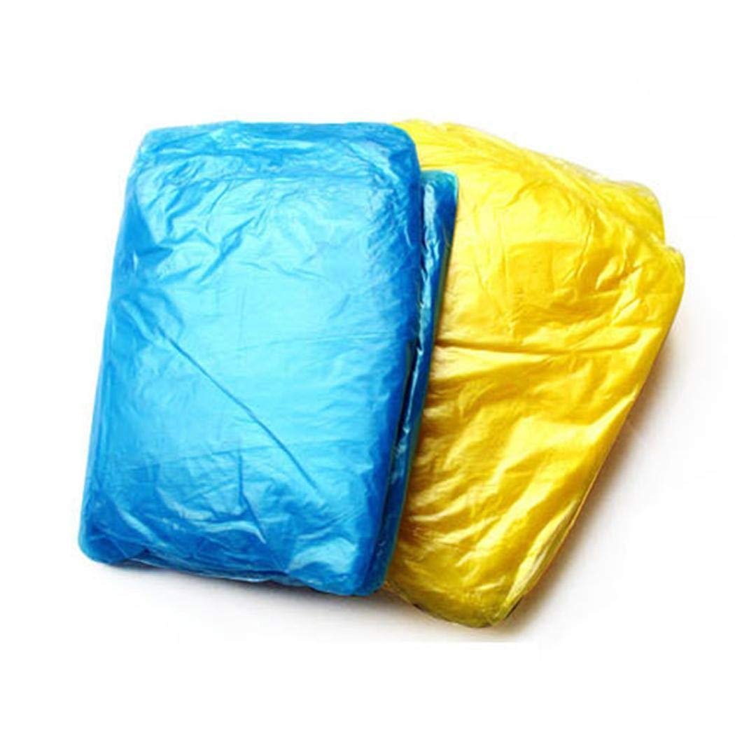 Hioplo Unisex Disposable Waterproof Thin Hooded Raincoat Emergency Disposable Poncho Raincoats