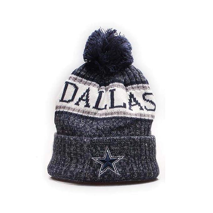 e5e6e9ff2 Dallas Cowboys Cuffed Knit Hat Pom Toque Cap Pom Cap for Fans