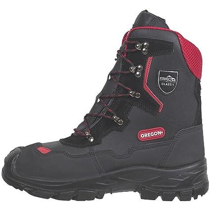 Oregon Yukon piel botas de seguridad para motosierra negro tamaño 10,5