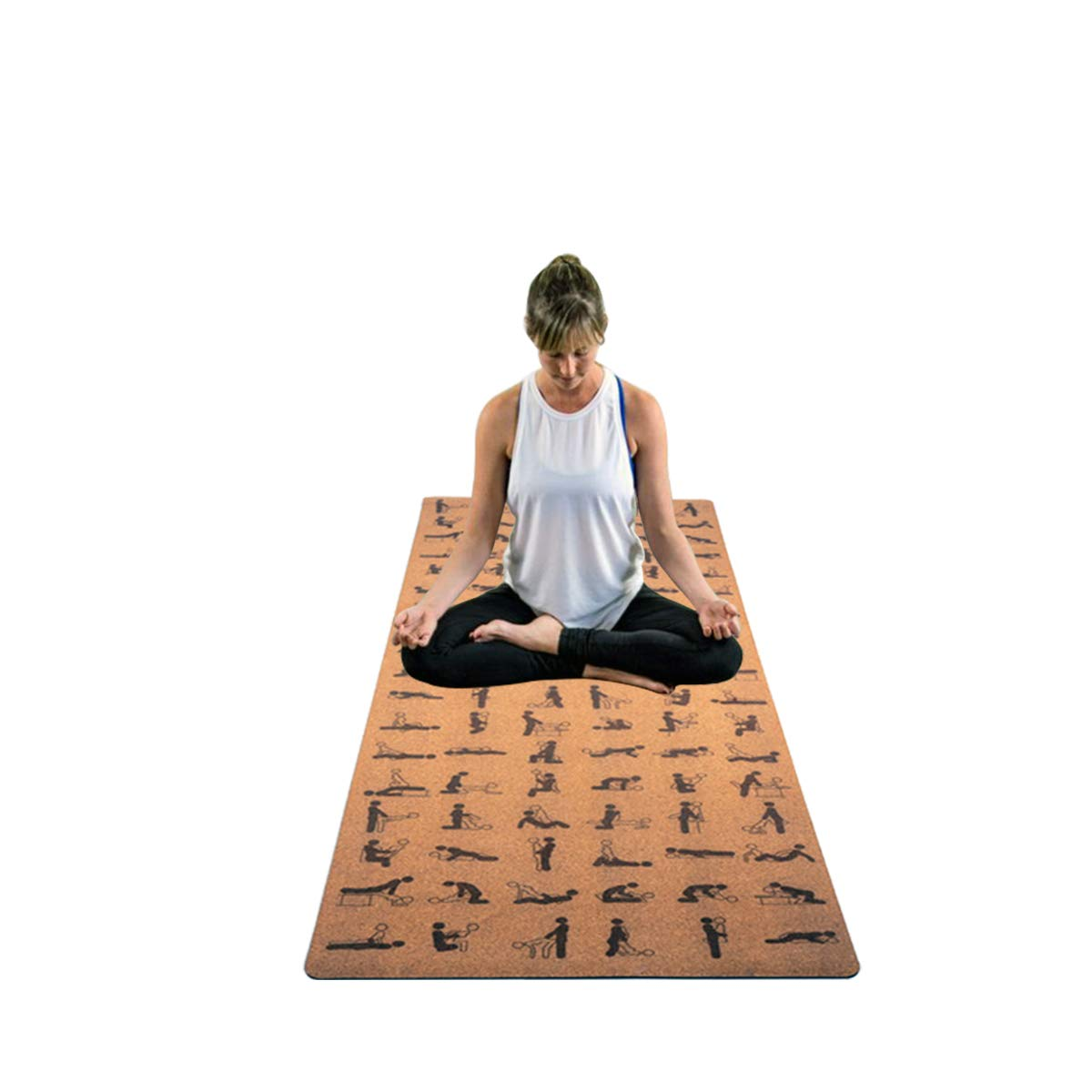Cork Yoga Mat - Natural Yoga Mat - Yoga Mat Cork - Organic Yoga Mat - Yoga Mat for Men and Women - Eco Friendly Yoga Mat - Hot Yoga Mat - Yoga Mat - ...