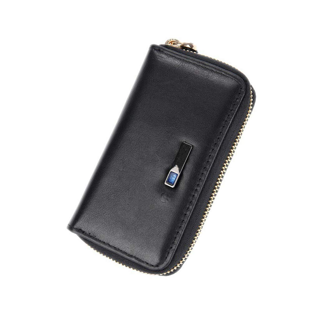 DCRYWRX Cartera De Alarma De Ladrón De Bluetooth Inteligente Clave Caso De Lujo Multifunción Cuero Clave Caso Bolsa Anti-Perdida Dispositivo Bluetooth 4.0 ...