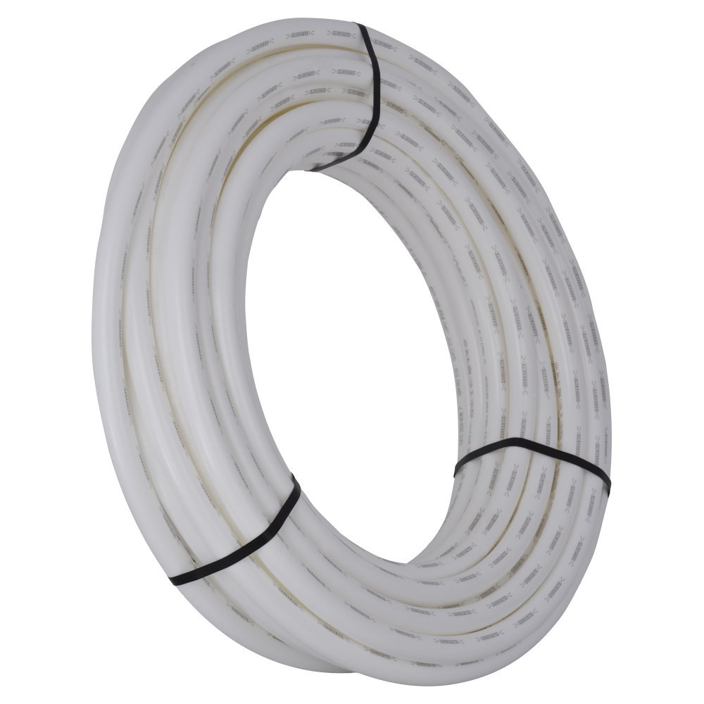 SharkBite PEX Pipe Tubing 1 Inch, White, Flexible Water Tube, Potable Water, U880W100, 100 Foot Coil
