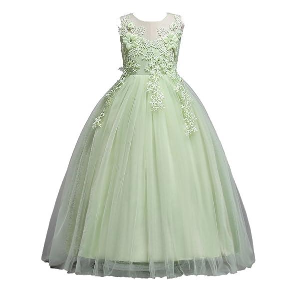 Amazon.com: LPATTERN Little/Big Girls Retro Vintage Lace Floral Maxi Long Princess Dress for 4-14 Year: Clothing