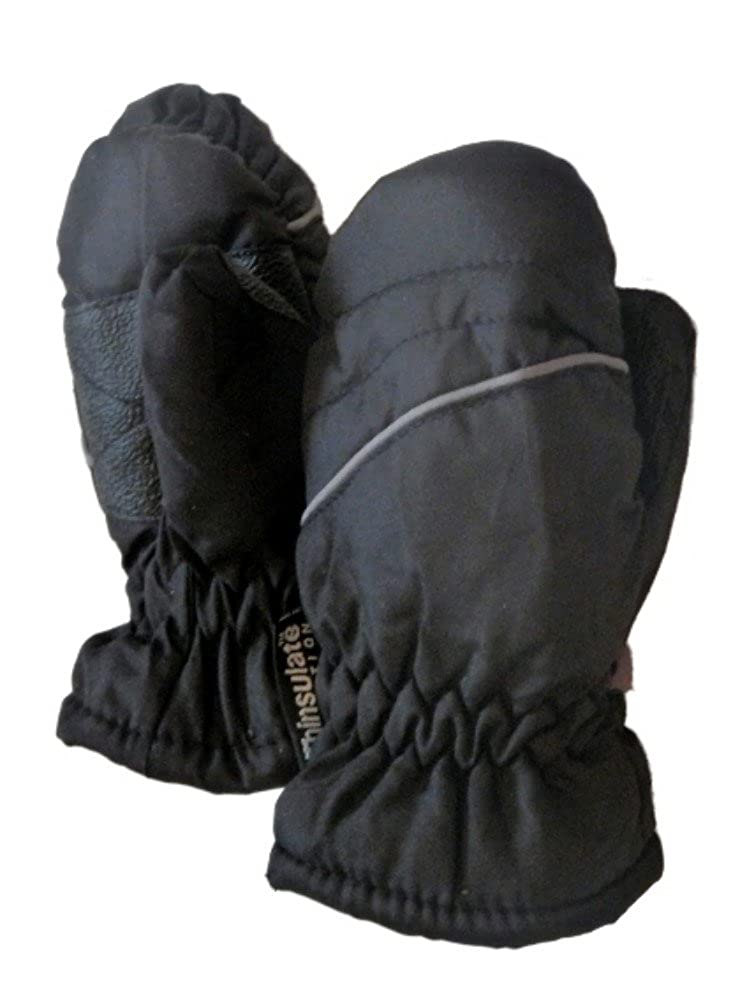 Infant & Toddler Boys Black Stripe Snow & Ski Mittens Faded Glory