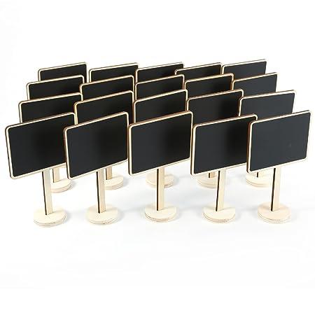 Anladia 20 Mini Tableaux Noir ardoise rectangle 10x7.5cm ...
