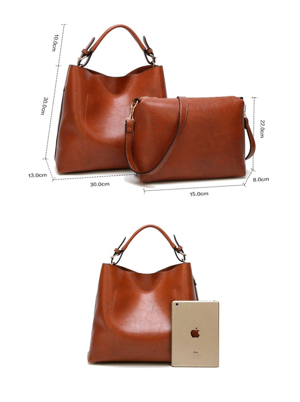 Women Handbags Designer Ladies Satchel Hobo Bags Tote PU Leather Handbags Shoulder Purse by BragBag (Image #8)
