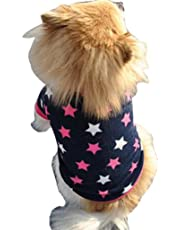 Sannysis Ropa para Perros Mascotas Chaleco para Perros Color de Estrella (M)