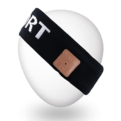 Mydeal Inalámbrico Unisexo Bluetooth Venda Durmiente Auriculares con Altavoz estéreo para Gimnasio Fitness Deportes al Aire