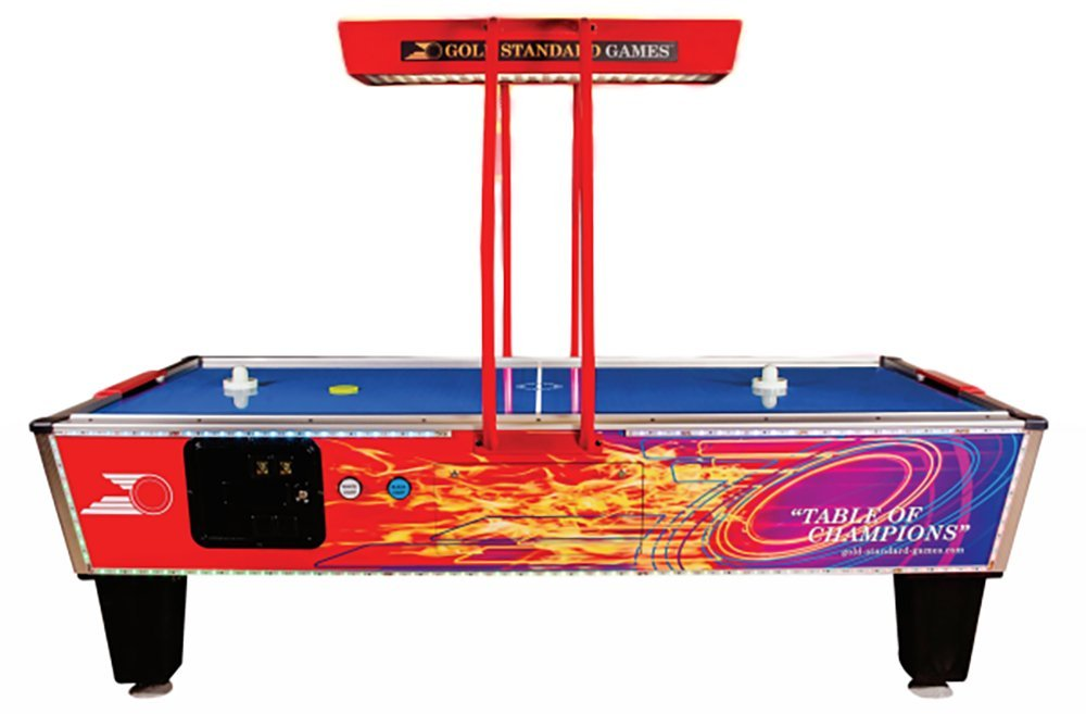 Gold Standard Games Gold Flare Elite Coin-Op Air Hockey Table