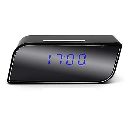 WiFi Despertador Cámara Oculta Niñera inalámbrica Vision Nocturna CAM IP espía Cámara de Seguridad para el