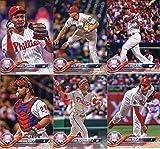 2018 Topps Philadelphia Phillies Team Set of 10 Baseball Cards (Series 1): Aaron Nola(#11), Cesar Hernandez(#26), Maikel Franco(#197), Odubel Herrera(#203), J.P. Crawford(#219), Nick Williams(#226), Nick Pivetta(#241), Rhys Hoskins(#259), Cameron Rupp(#308), Philadelphia Phillies(#339)