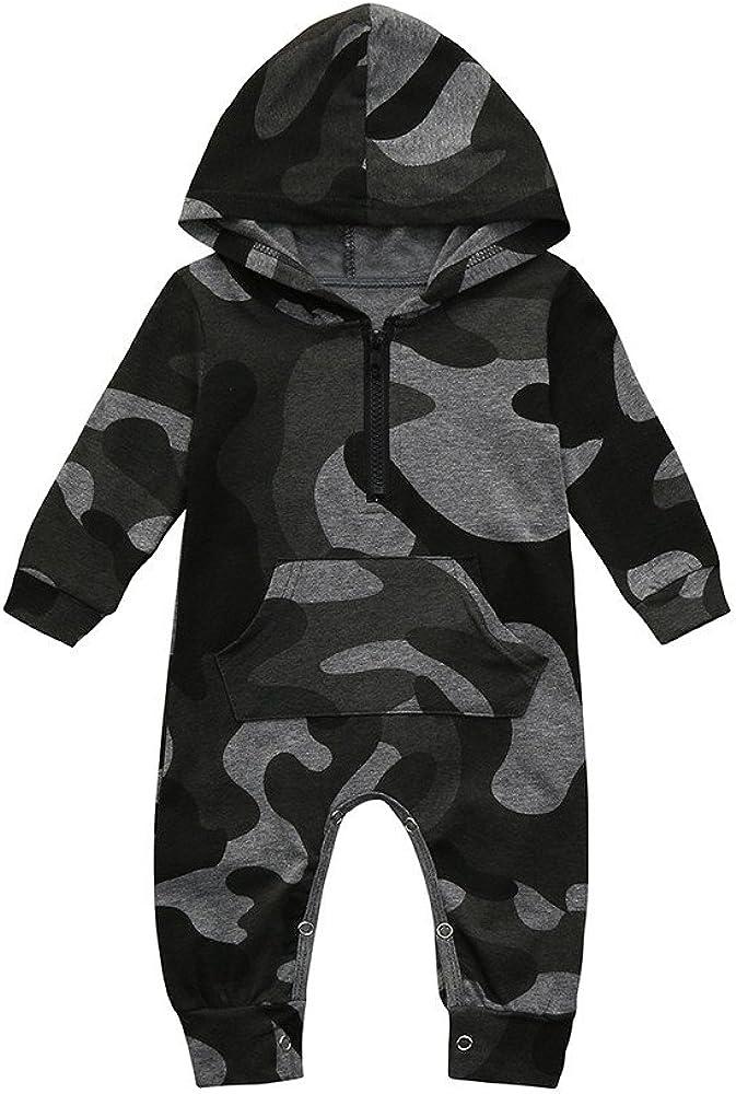Caerling Baby Jungen M/ädchen Tarnung Drucken Muster Strampler Kapuzen Overall Mode Kleidung Outfits W/ärmer Kapuzenmantel Mit Kapuze