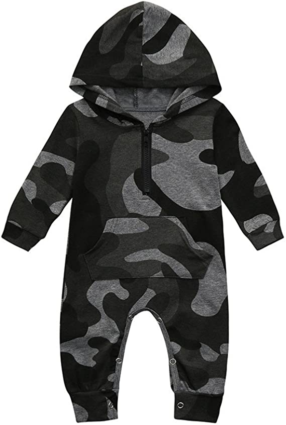 Xshuai for 0-24 Months Kids 3Pcs Fashion Newborn Infant Boy Girl Outfits Clothes Romper Tops+Pants+Hat Set Toddler Baby Halloween Long Sleeve Party Costume Photo Prop