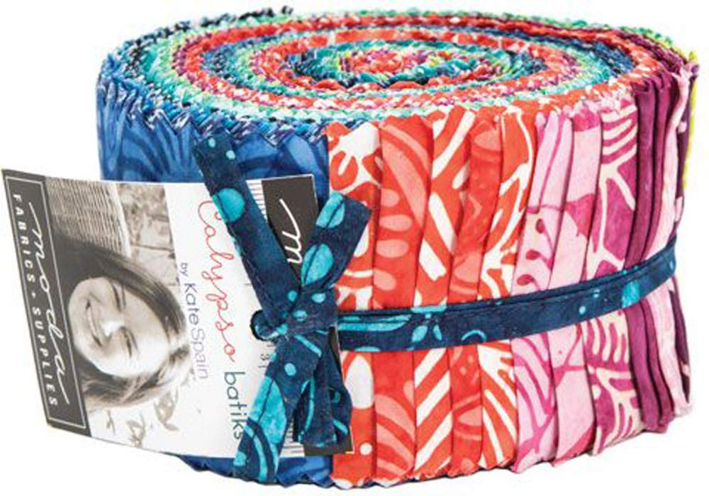 Calypso Batiks Jelly Roll 40 2.5-inch Strips by Kate Spain for Moda Fabrics by Moda Fabrics