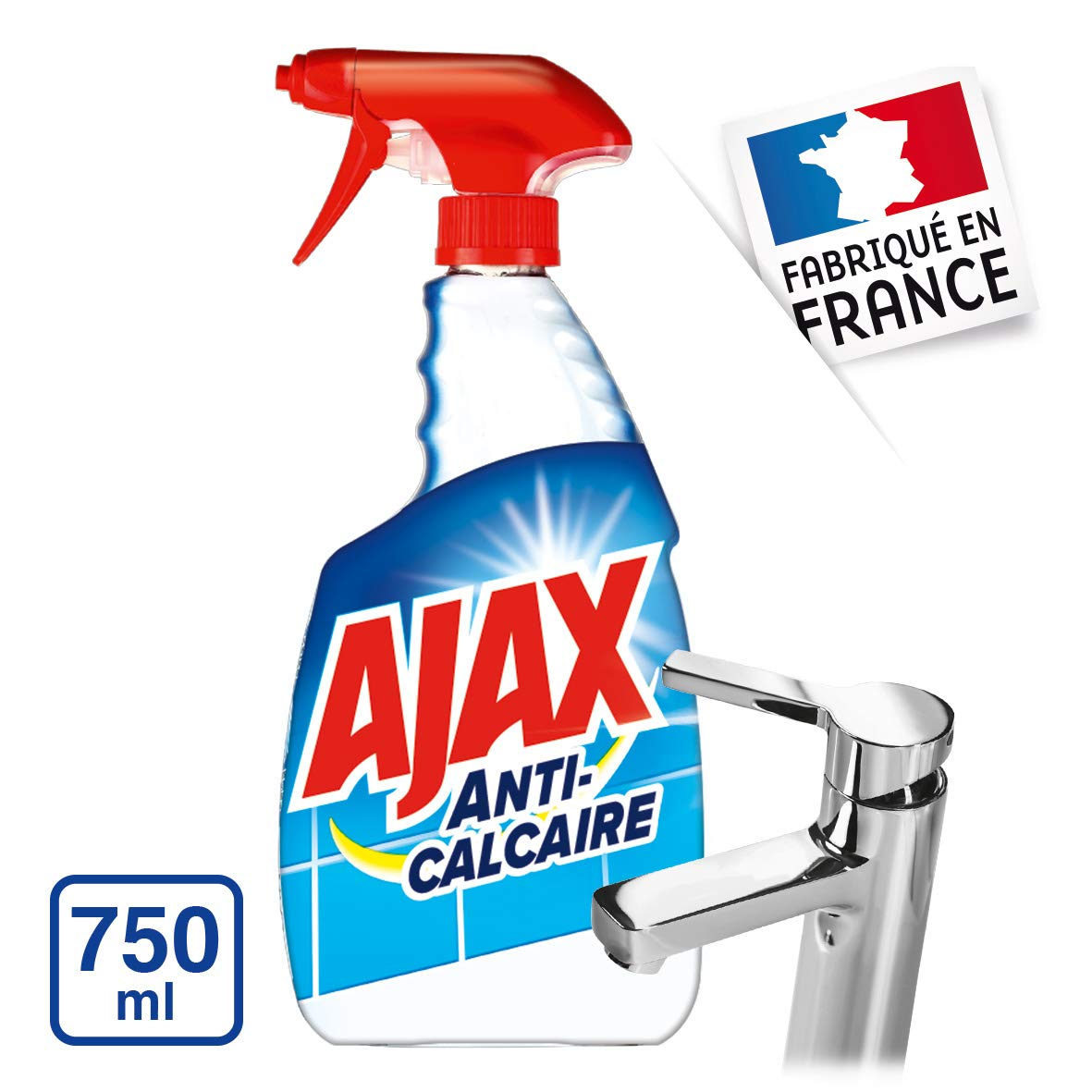 Ajax Nettoyant Spray Anti Calcaire 750 Ml Amazon Fr Hygi Ne Et