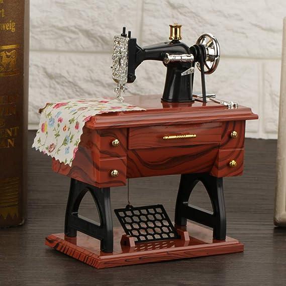 Hongzer Mini Caja de música de la máquina de Coser, Caja de música ...