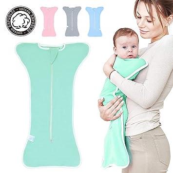 iZiv - Saco de dormir para bebé (algodón puro) verde verde ...