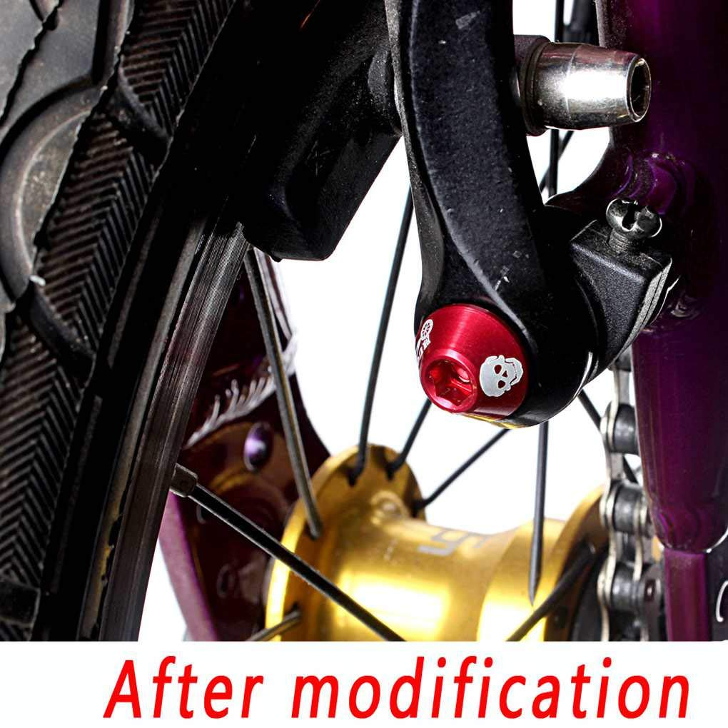 beIilan MTB Freno Tornillo de aleaci/ón de Aluminio Plegable de la Bicicleta de Ciclo del M6 V Tornillos de Frenos