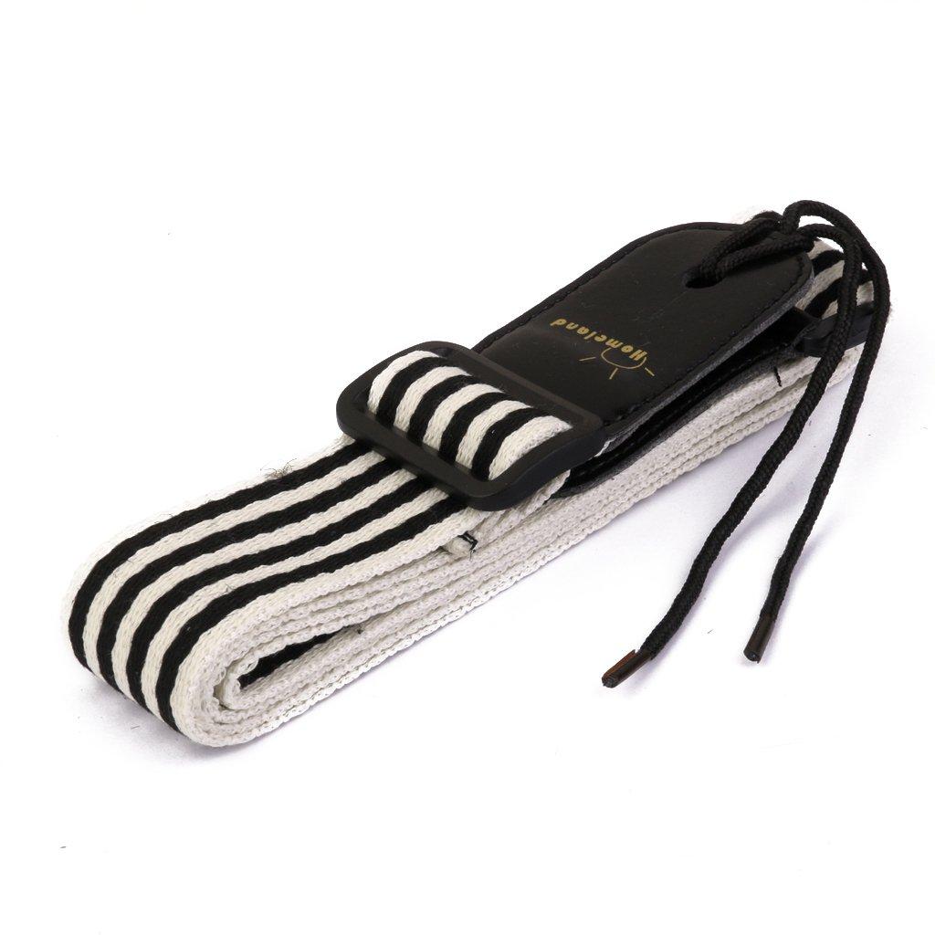 Adjustable Lightweight Ukulele Strap (Black & White) 4334256433