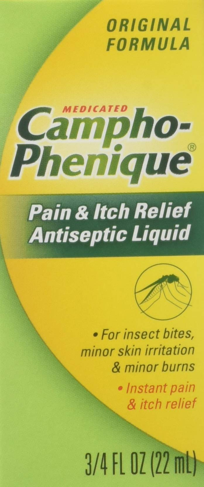 Campho-Phenique Pain & Itch Relief Antiseptic Liquid 0.75 fl oz (Pack of 3) by Campho-Phenique