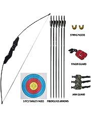 D&Q Tiro con L'Arco Arco ricurvo e Set di frecce 35 lbs per Adulti Giovani Principianti All'aperto A Caccia sparare Formazione Pratica Giocattolo