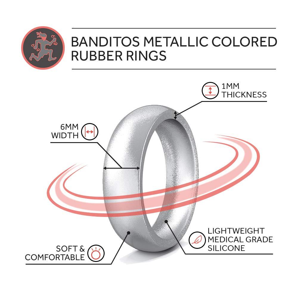 Comfortable Exercise Thin Bands Rubberbanditz Silicone Wedding Rings Stylish