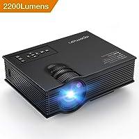APEMAN LC250US1 Full HD 1080p 2200-Lumens LCD Projector (Black)