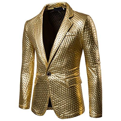 Tailleur Longues Veste Manches Or Dihope Blazer Homme Slim Ol Formel Costume Fashion Coat D'affaire Mariage Jacket gxvpvYq1