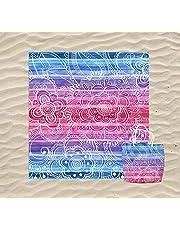 KN Toalla Playa Gigante para Mujer en Diseño de Impresos con Regalo de Una Bolsa Ideal