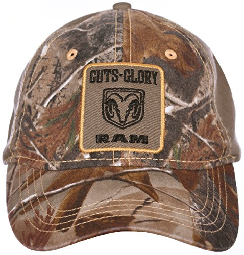 443977cb9f2 H3 Headwear Guts Glory Dodge RAM Logo Adjustable Cap with True Timber  Camouflage