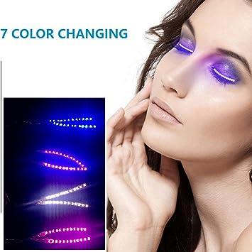 4b64fe5abf6 LED Eyelashes Light Up Lashes with 7 color Luminous F.Lashes Shining  Charming Eyelid Tape