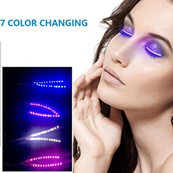 1fdd5a84a9d LED Eyelashes Light Up Lashes with 7 color Luminous F.Lashes Shining  Charming Eyelid Tape