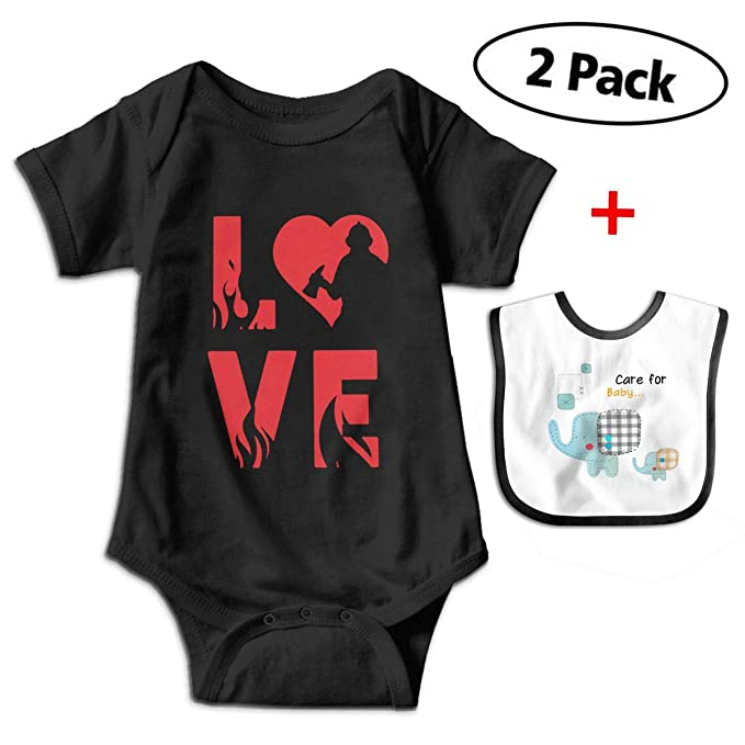 e9f39097b Amazon.com: Pray for California Love Fireman Newborn Infant Baby Boys Girls  Romper Bodysuit Short Sleeve Outfit Clothes One-Piece: Clothing