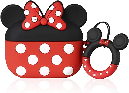 Amazon Com Joyleop Red Minnie Case For Airpods Pro 3 Cute